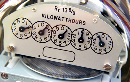 Analog electricity meter