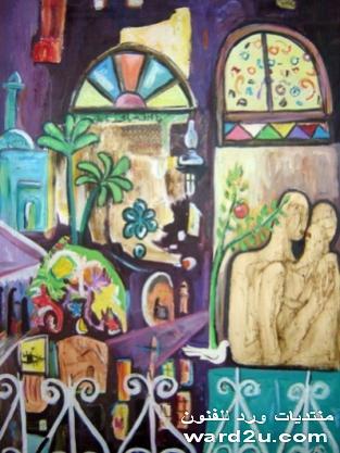لوحات الفنان التشكيلي عباس الزهاوي