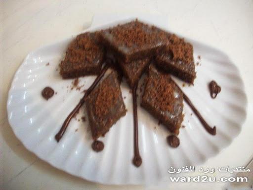 بسبوسه بنكهة الشوكولا من مطبخى بالصور