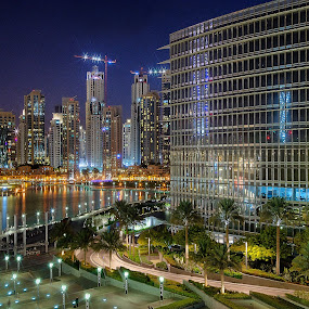 Downtown by RJ Ramoneda - Buildings & Architecture Other Exteriors ( water, building, night, architecture, hotels )