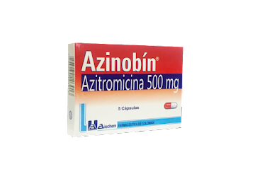 Azitromicina AZINOBIN 500MG CAJA X 5 CAPSULAS AZITROMICINA BIOCHEM