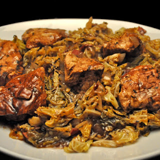 Chicken Breasts with Balsamic Cabbage.