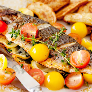 Greek-Style Fish With Marinated Tomatoes