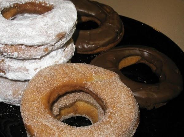 Roll in your favor, cinnamon, chocolate, make a glaze, I love powered sugar.