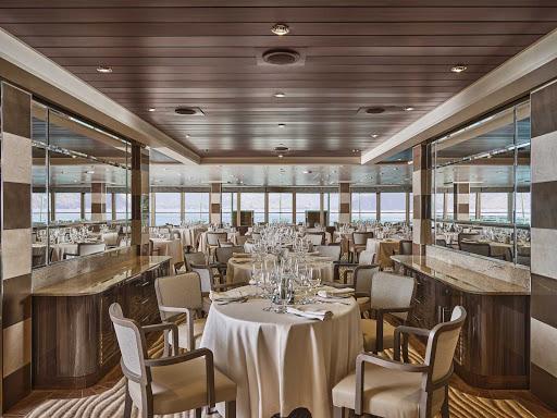 The interior of La Terrazza, the Italian slow food-inspired restaurant on Silver Moon.