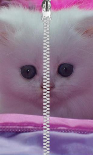 Cat Zipper Lock Screen Free
