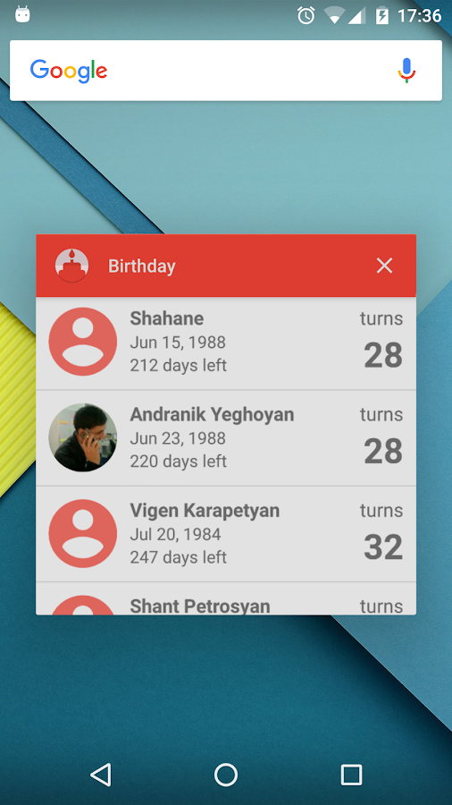 Birthday- screenshot