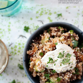 Cracked Wheat Salad with Dates & Tahini Yogurt