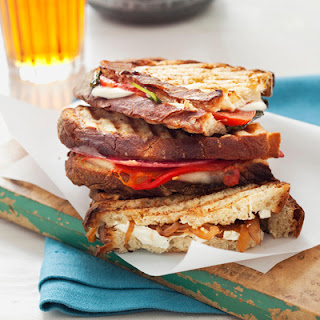 Caramelized Onion and Goat Cheese Panini