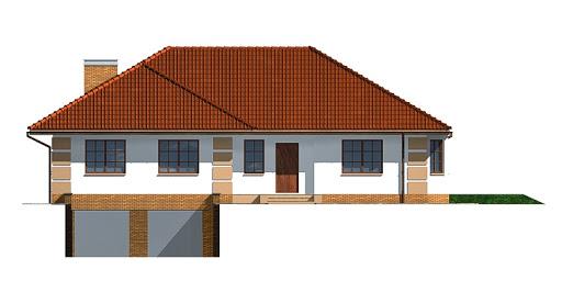 Dom przy Marcepanowej - Elewacja przednia
