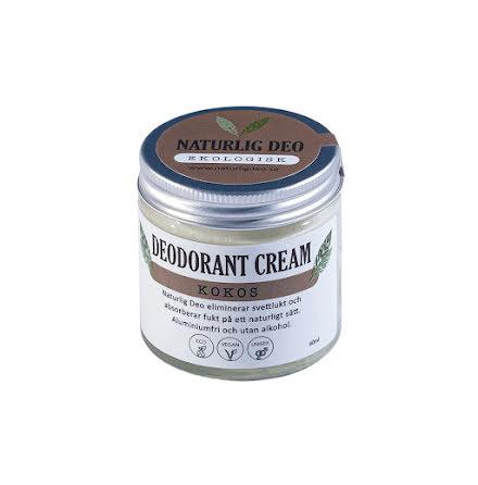 Naturlig deo, Ekologisk Deodorant Cream Kokos, 60 ml
