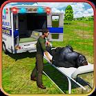 市動物園の動物レスキュートラック Animal Rescue icon