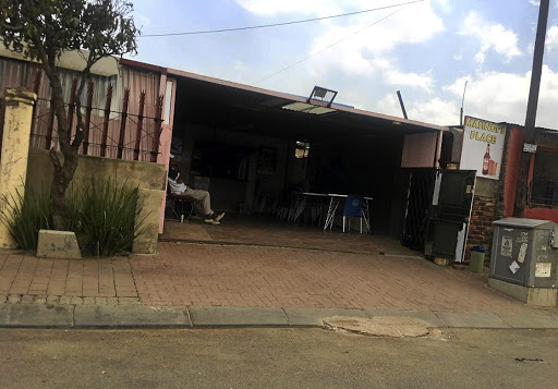 Orlando Pirates captain Thabo Matlaba allegedly hit and kicked a woman near this tavern last year but justice has been slow for the complainant, Naledi Shuping.