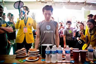 Photo: Takeru Kobayashi prepares - Photo by James Martin