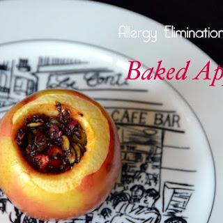 Allergy Elimination Diet Baked Apples