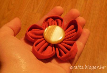 Cvijet od tkanine 3