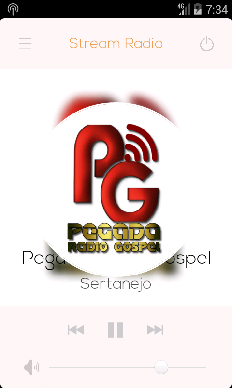 Pegada Radio Gospel: captura de tela