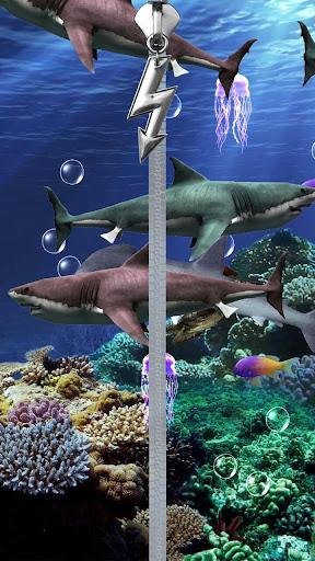 サメは 画面をロックします。