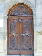 Photo: Elaborately carved wooden doors (often walnut) are present on as number of city buildings.