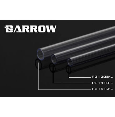 Barrow PETG Tube Ø8/Ø12mm, klar, 1 stk à 50cm