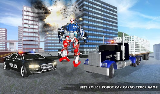 US Police Robot Transport Truck Driving Games Screenshot