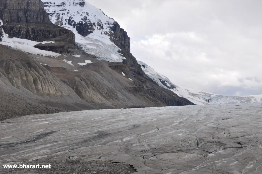 Athabasca Glacier near the Icefields Parkway