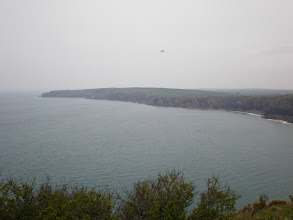 Photo: From Marloes Sands to Broad Haven (bkgrd: The Nab Head)