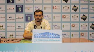 Alfonso en la rueda de prensa.