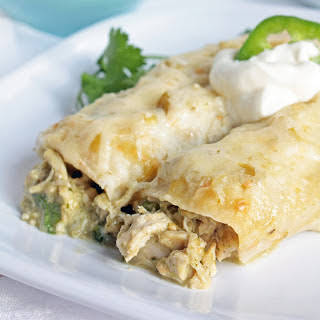 Green Chicken Enchiladas (Gluten Free).