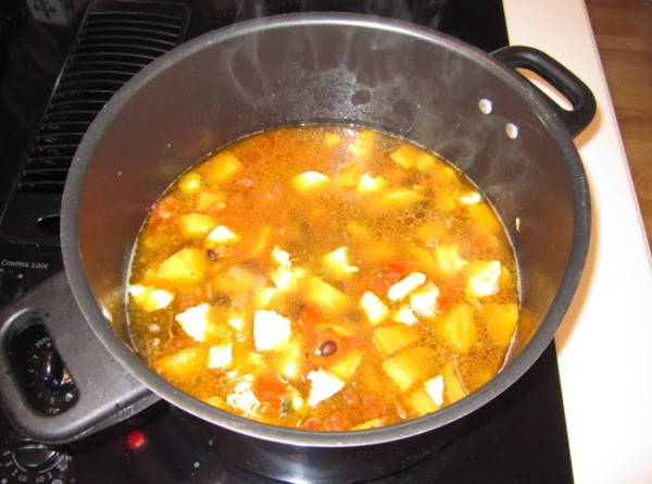 Add the onion, red bell pepper, garlic & jalapeño to the sweet potatoes and...