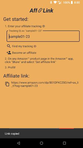 AffLink - Affiliate Link Generator for Amazon 1.01 screenshots 2