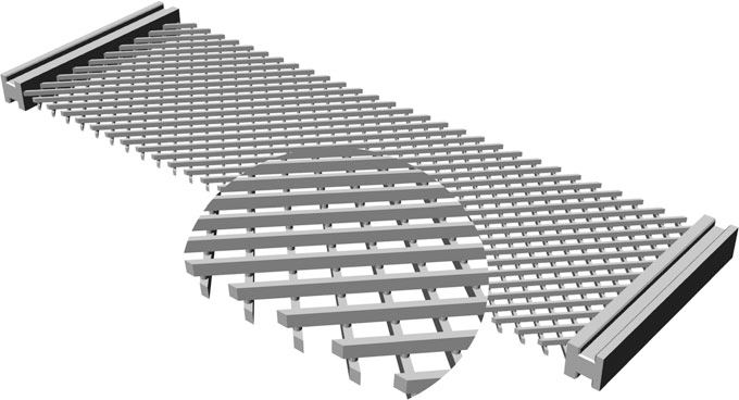 Изображение, демонстрирующее пантографическую структуру решетки