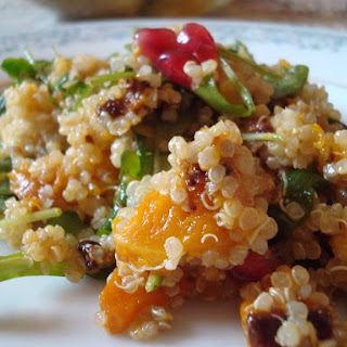 Quinoa With Arugula, Butternut Squash and Citrus Vinaigrette (Pareve, Passover).