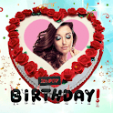 Birthday Photo Frame And Stickers 2020 icon
