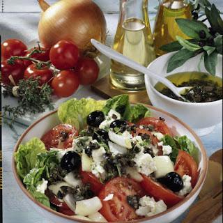 Greek Salad with Olive Vinaigrette