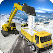 Heavy Excavator Crane Simulator: Snow Rescue