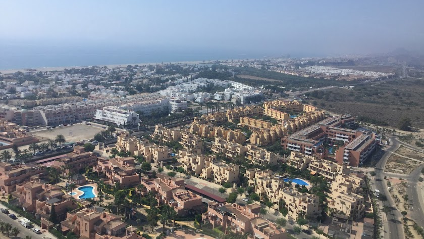 Vista aérea de Vera Playa, donde se desarrollarán varios proyectos municipales.