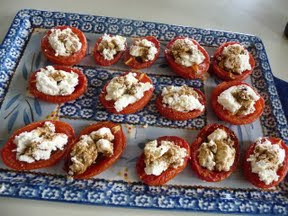 Slow roasted tomatoes with ricotta