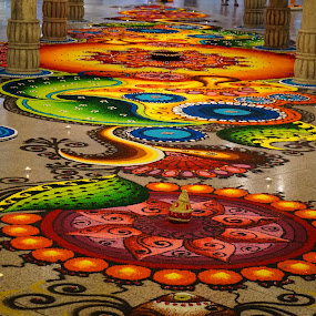 just awesome Rangoli by Mary Yeo - Artistic Objects Other Objects (  )