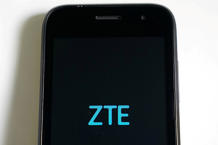 FILE PHOTO: A ZTE smart phone is pictured in this illustration taken April 17, 2018.