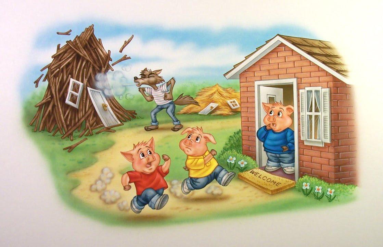 Josh @ Pt England School: The Three Little Pigs And The Big Bad Wolf