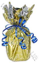 Photo: Упаковка чашки в фольгу. Золотистая фольга, декоративные ленточки