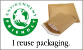 I reuse packaging! Save the environment!