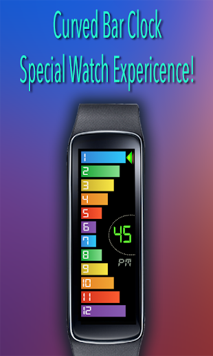 Gear Fit Curved Bar Clock- screenshot thumbnail