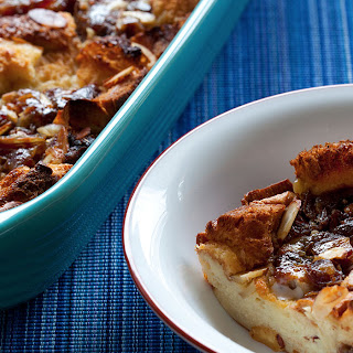 Medjool Date Bread Pudding with Pudding Sauce