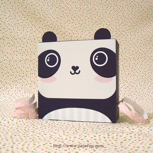 jinjerup  cute panda gift box