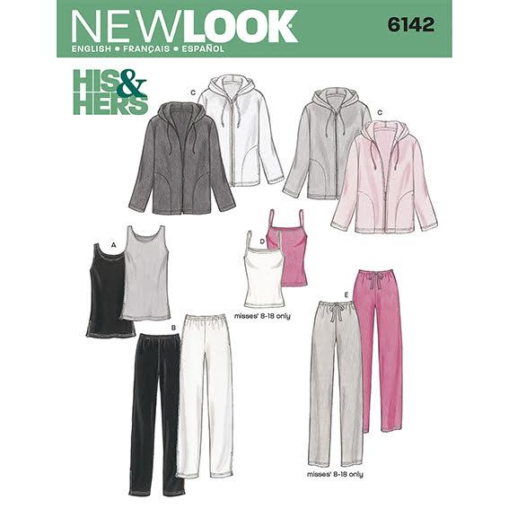 Byxor, Linne, och hoodie, Unisex, New Look 6142