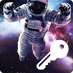 Space Man Galaxy Travel Wallpaper PIN Smart Lock icon