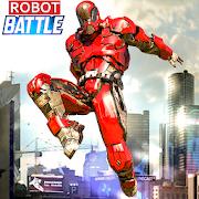 Futuristic Robot Battle : Flying Car War