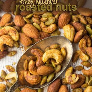 Paleo Honey Mustard Roasted Nuts.